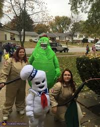 Stay Puft Marshmallow Man Costume Ghostbusters Family Ghostbusters Slimer And Stay Puft