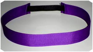 elastic stretchy ribbon headband solid purple jlribbongear on