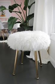 Vanity Stools And Chairs Furry Stool A Beautiful Mess I U0027ve Decorated Most Rooms Of My
