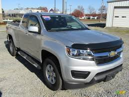 chevy colorado silver 2015 silver ice metallic chevrolet colorado wt extended cab