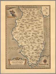 Maps Of Illinois by An Historical And Geographical Map Of The State Of Illinois