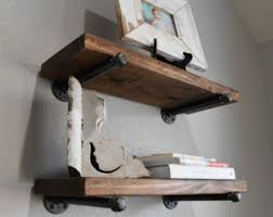 Floating Shelves For Bathroom by Set Of 3 10 Deep Floating Shelves With Industrial