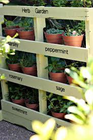 Vertical Veggie Garden How To Make An Herb Garden From A Pallet Vertical Herb Gardens