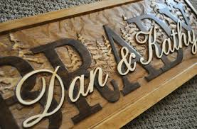 wedding gift name sign personalized sign plaque custom carved wood wedding gift family