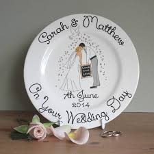 wedding plate personalised wedding gift plate by sparkle ceramics