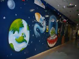 beautiful galaxy wall mural for a school in dubai interior beautiful galaxy wall mural for a school in dubai