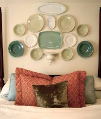 Faux Headboard Ideas by Decorative Plates Collage Beautiful Wall Decorating Ideas
