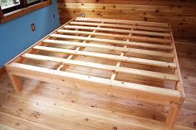 King Wooden Bed Frame Size Wood Bed Frame Slisports