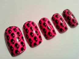 breast cancer toe nail designs