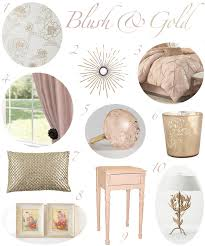 Gold Room Decor Blush And Gold Bedroom Decor