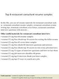 restaurant sample resume ingenious inspiration ideas restaurant