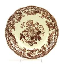 spode marina brown china dinner plate