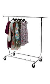 collapsible clothing rack chrome store supply warehouse