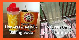 use baking soda to clean patio furniture