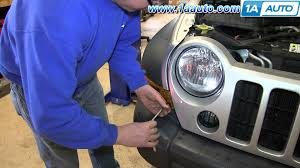how to install replace change parking signal light 2005 07 jeep
