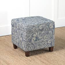 homepop cole classics square storage ottoman wood leg homepop