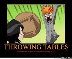 Meme Throws Table - throwing tables by recyclebin meme center