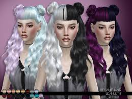 sims 4 hair cc leah lillith s leahlillith melanie hair