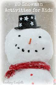 snowman collage craft for kids reading confetti