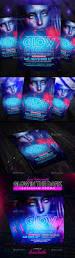glow in the dark flyer instagram promo by louistwelve design