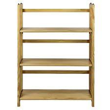 Casual Home Decor Bookcases Casual Home 3 Shelf Folding Stackable Bookcase Natural