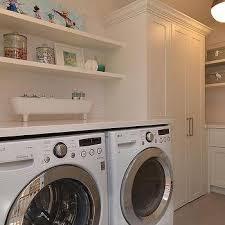 laundry room shelves contemporary laundry room marsh and clark