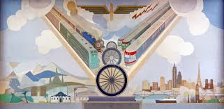 transportation on peter alma s wall paintings retours western wall of amsterdam amstel 1939 peter alma photo adb