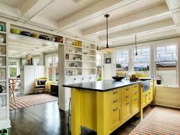 Yellow And White Kitchen Ideas White Kitchen With Black And Yellow Kitchen Island Modern Yellow