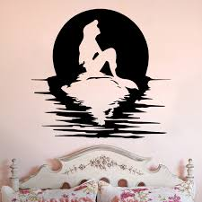 home interior designe mermaid wall decals quote a little mermaid sleeps here vinyl decal