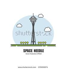 seattle space needle vector stock images royalty free images