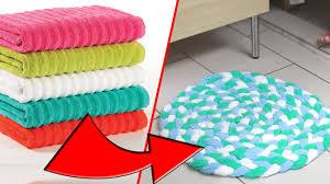 Towel Bath Mat Diy Towel Bathmat Rug Recycle Towels