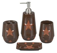 rustic star bathroom accessories bathroom bear creek country