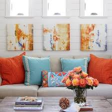 Orange Living Room Decor Orange And Blue Living Room Design Ideas