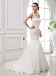 straight across sweep train mermaid lace wedding dress lunss couture