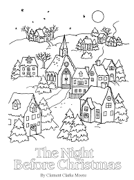 simply christmas night christmas coloring pages