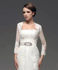 Wedding Dress Jackets Buy Cheap Tulle Applique Beaded White Wedding Dress Jackets