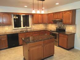 oak kitchen island with granite top kitchen appealing u shape kitchen decoration rectangular