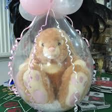 teddy bears inside balloons stuffed balloons