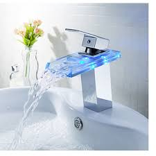 led equipped bathroom faucet broccali broccali