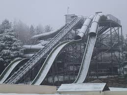 winter at lightwater valley theme park a snow covered ligh flickr