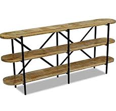 Rustic Hallway Table Vintage Industrial Sideboard Rustic Console Table Wooden Shelving