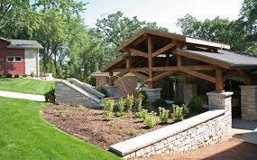backyard garage stunning portico transformation project on booth lake