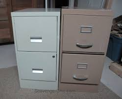 How To Paint A Metal File Cabinet Mismatched Metal File Cabinets Get A Makeover Hometalk