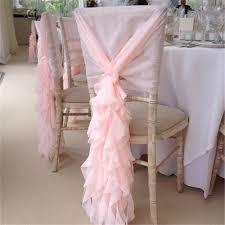 blush chair sashes morden design ruffle blush chiffon chair tie chiffon chair sash