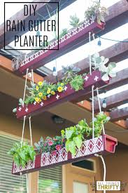 Diy Hanging Planters by Rain Gutter Hanging Planter With Instructions Planters Rain And