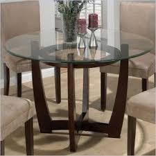 Round Glass Kitchen Table Round Glass Top Dining Room Table Foter