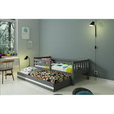 single bed with trundle carino for kids children and juniors