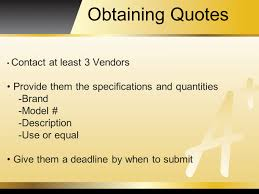 vendor quote definition purchasing purchasing procedures click on district departments