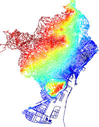 Heat Map In Tableau Heat Map Showing The Streets Of Barcelona Colored Based On Average
