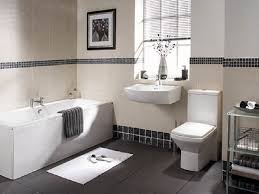 black and white bathroom subway tile white marble floor dark gray